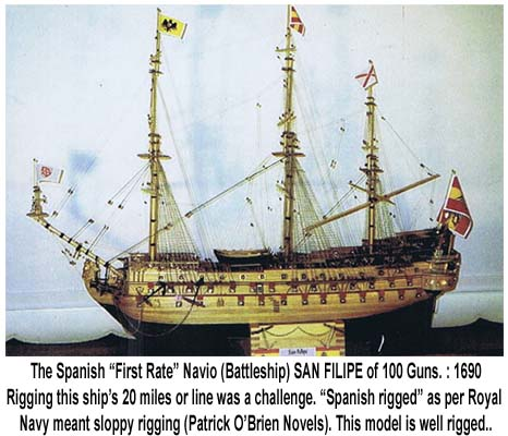 SAN FILIPE, SPANISH NAVIO (MAN-O-WAR): 1690